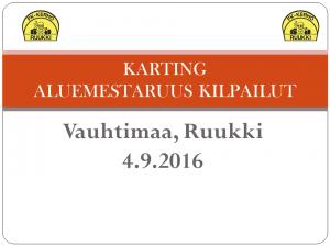 ALUEMESTARUUS KILPAILUT